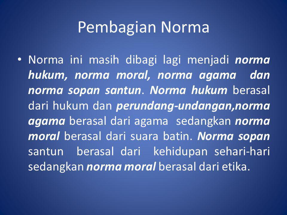 Pembagian Norma