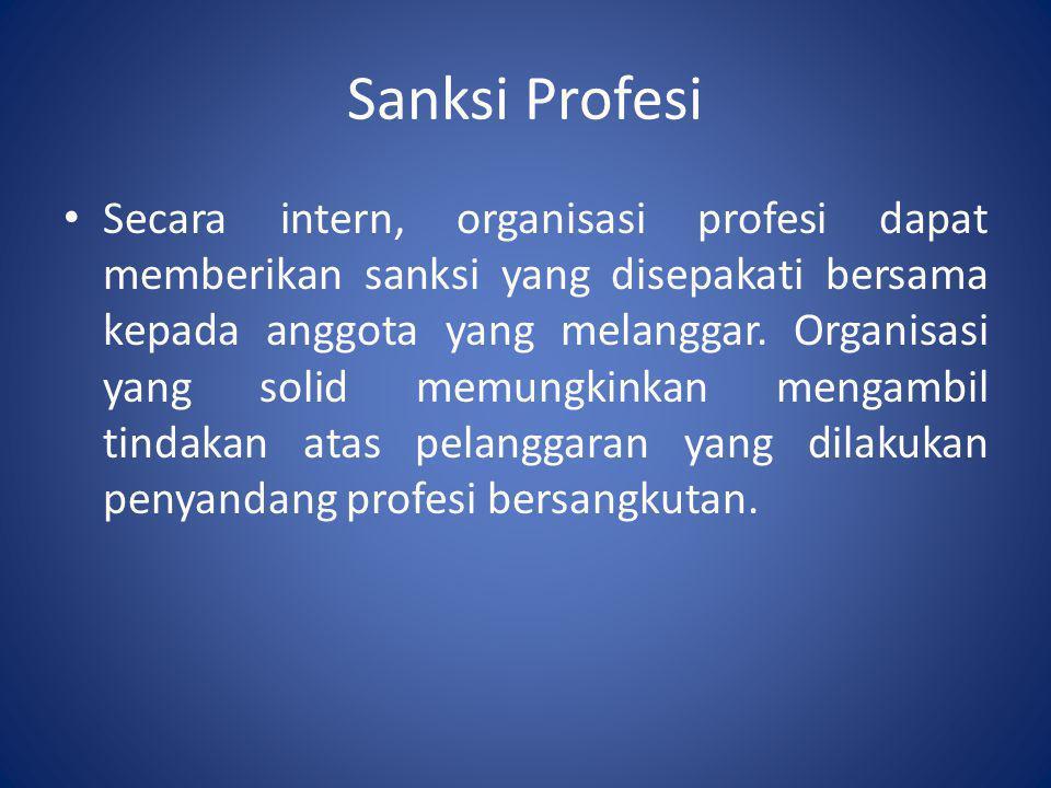 Sanksi Profesi