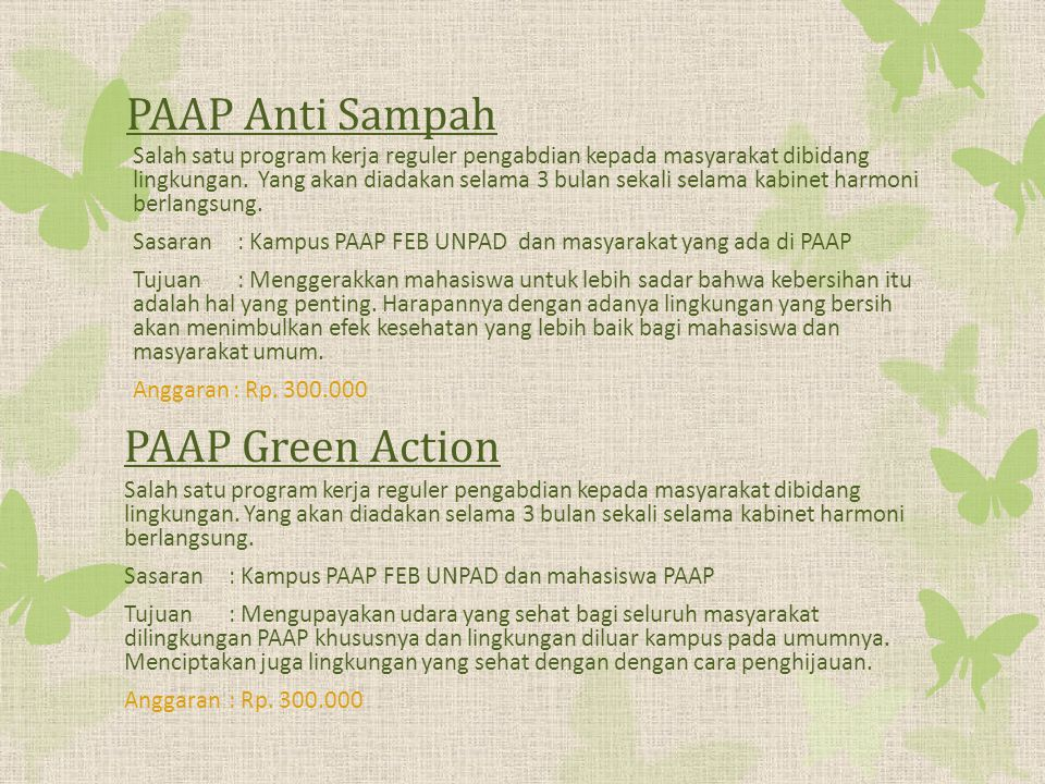 PAAP Anti Sampah PAAP Green Action