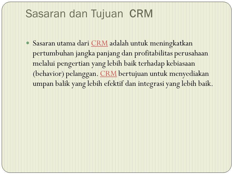 Sasaran dan Tujuan CRM