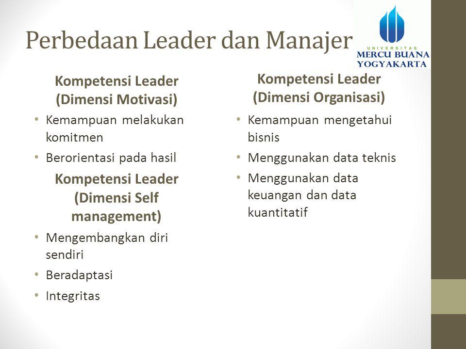 Perbedaan Leader dan Manajer