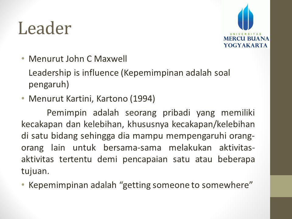 Leader Menurut John C Maxwell