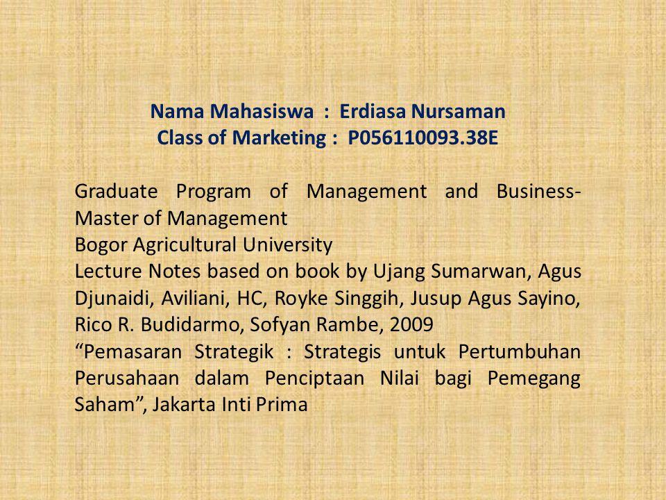 Nama Mahasiswa : Erdiasa Nursaman
