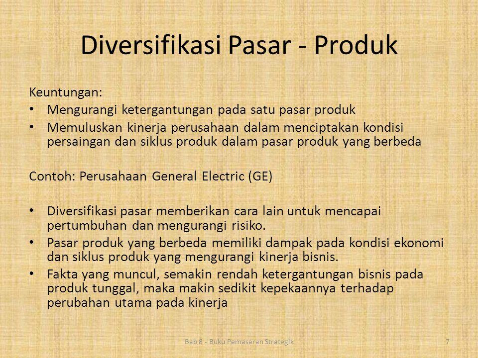 Diversifikasi Pasar - Produk