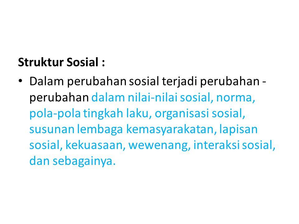 Struktur Sosial :