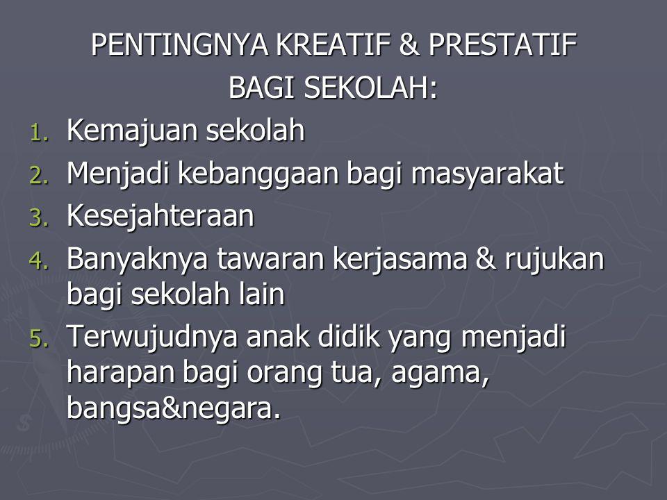 PENTINGNYA KREATIF & PRESTATIF