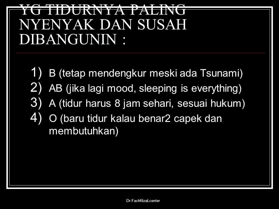 YG TIDURNYA PALING NYENYAK DAN SUSAH DIBANGUNIN :