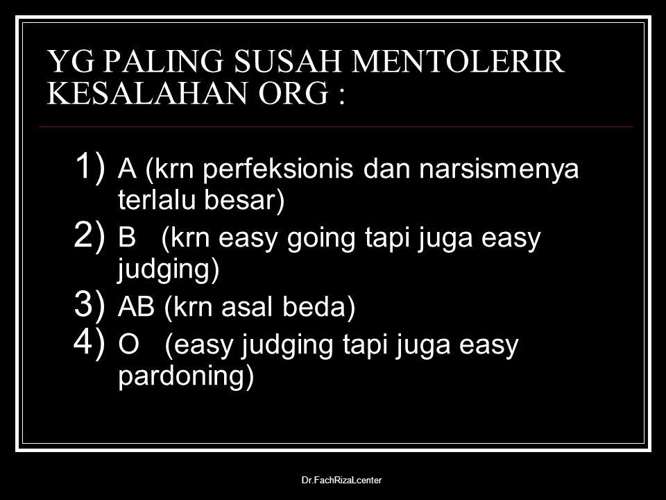 YG PALING SUSAH MENTOLERIR KESALAHAN ORG :