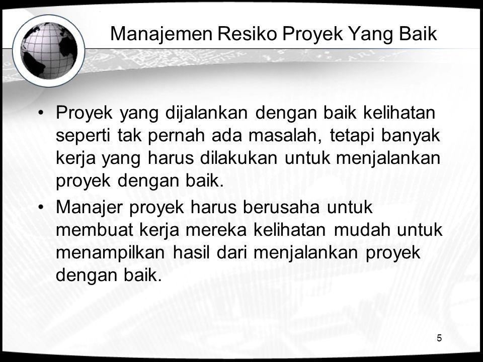 Manajemen Resiko Proyek Yang Baik