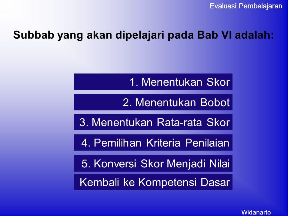 Subbab yang akan dipelajari pada Bab VI adalah: