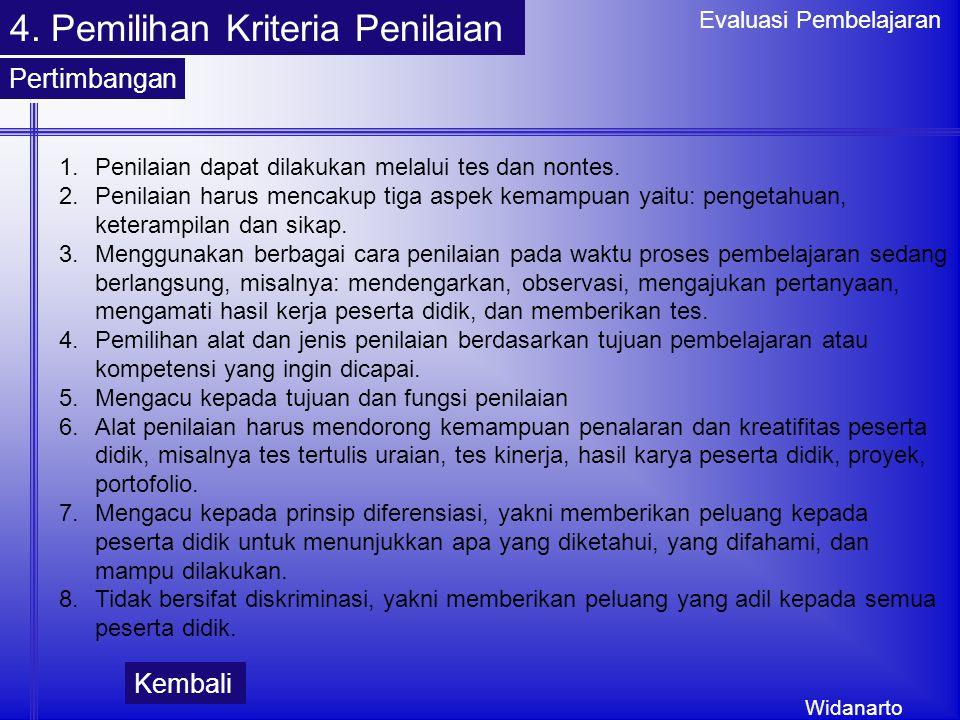 4. Pemilihan Kriteria Penilaian