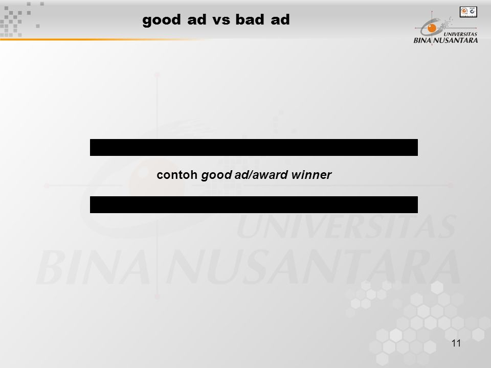 good ad vs bad ad contoh good ad/award winner