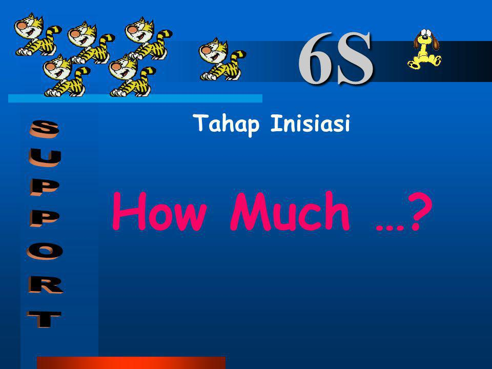 6S Tahap Inisiasi How Much … SUPPORT