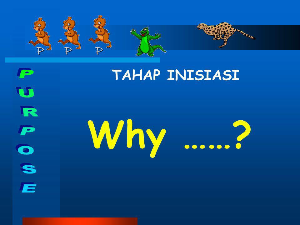P P P TAHAP INISIASI Why …… PURPOSE