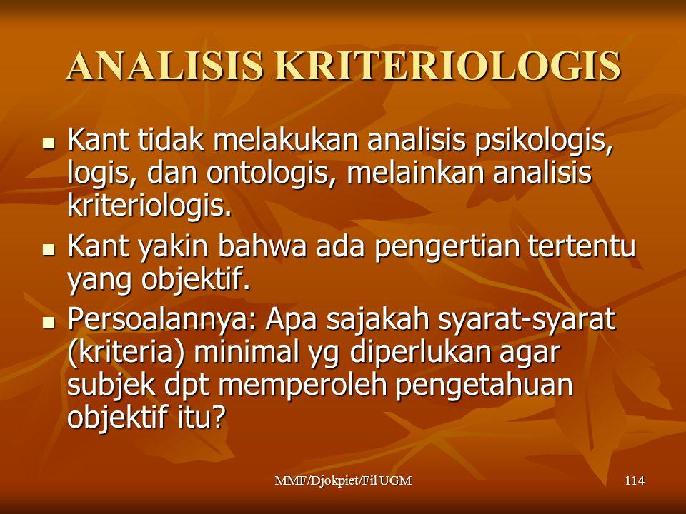 ANALISIS KRITERIOLOGIS