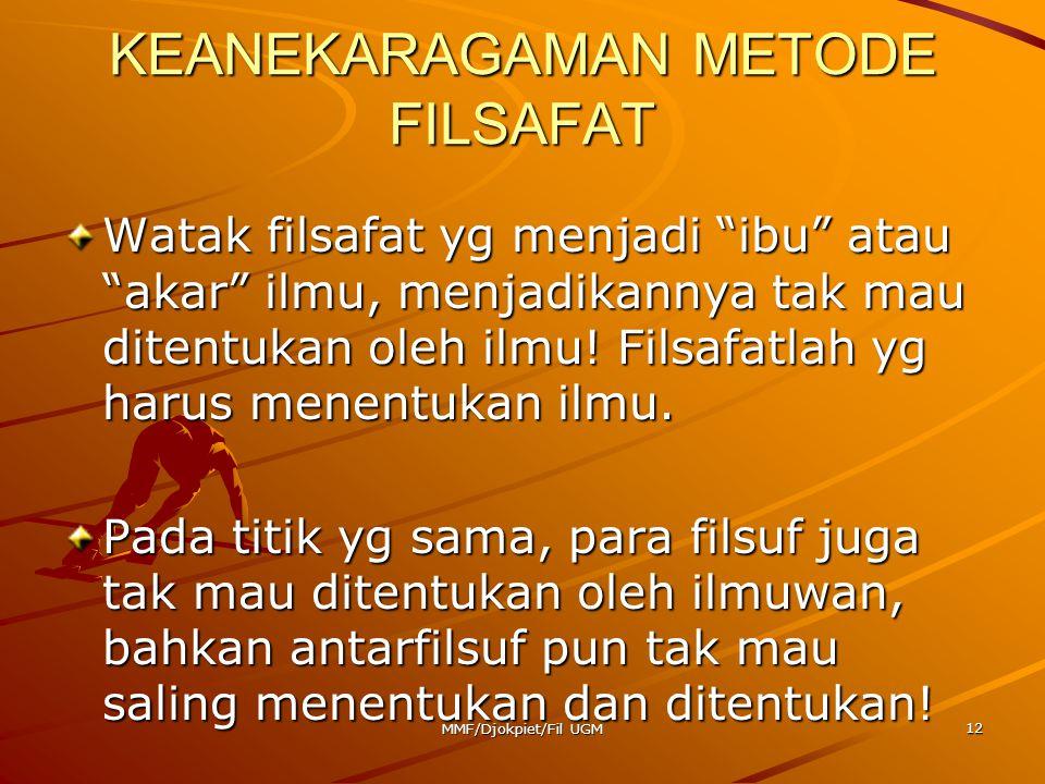 KEANEKARAGAMAN METODE FILSAFAT