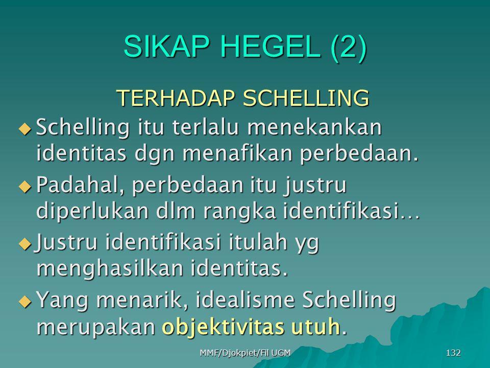 SIKAP HEGEL (2) TERHADAP SCHELLING