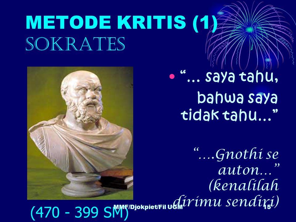 METODE KRITIS (1) SOKRATES