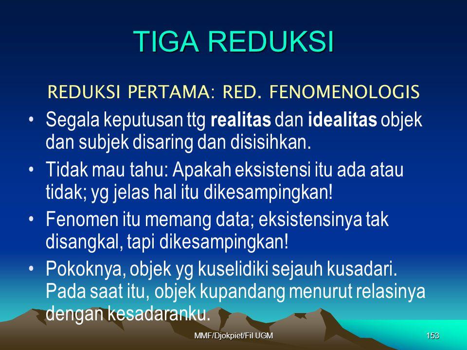 REDUKSI PERTAMA: RED. FENOMENOLOGIS