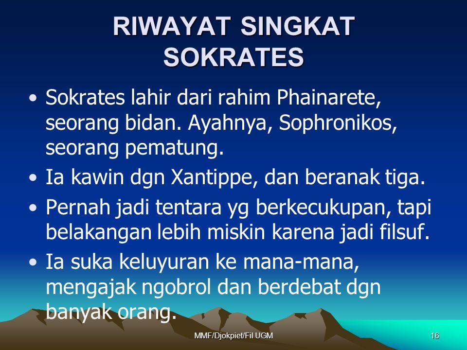 RIWAYAT SINGKAT SOKRATES