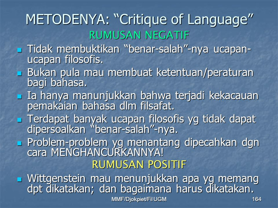 METODENYA: Critique of Language