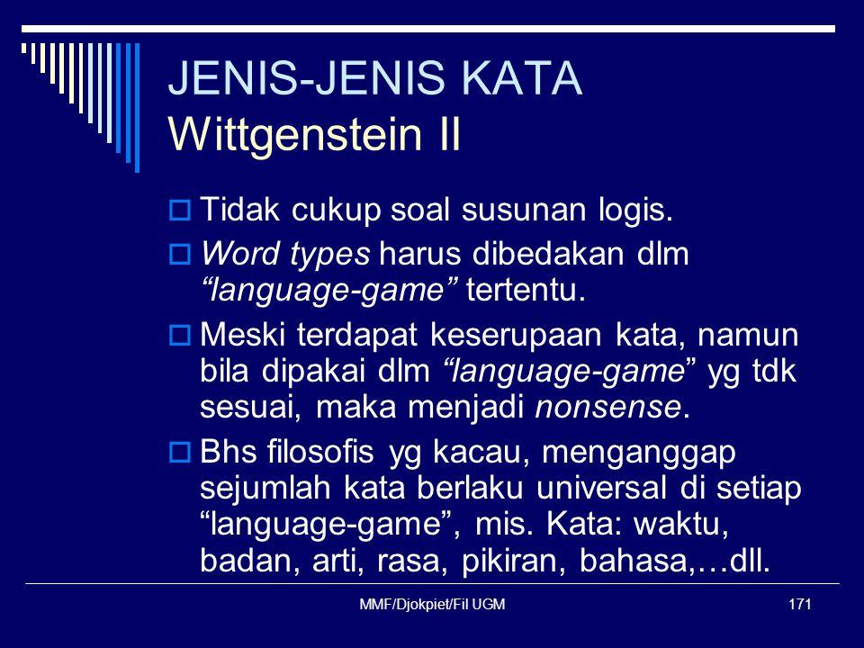 JENIS-JENIS KATA Wittgenstein II