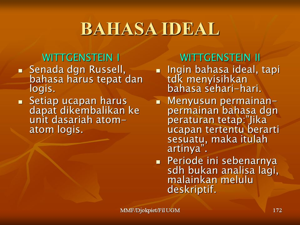 BAHASA IDEAL WITTGENSTEIN I