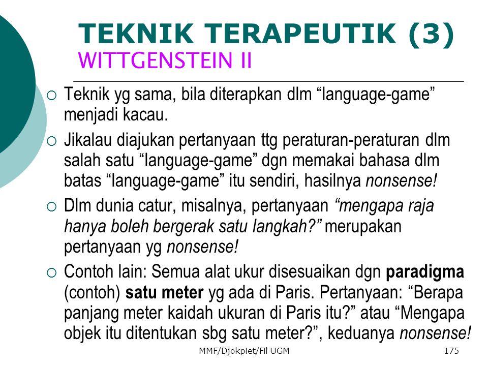 TEKNIK TERAPEUTIK (3) WITTGENSTEIN II
