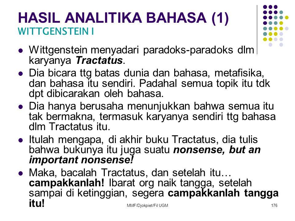 HASIL ANALITIKA BAHASA (1) WITTGENSTEIN I
