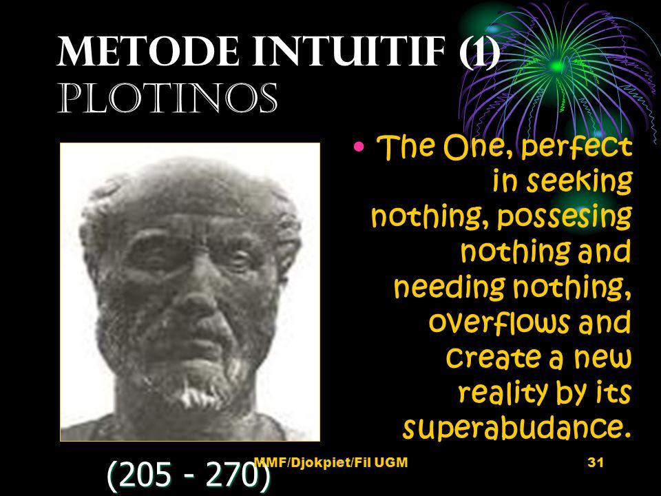 METODE INTUITIF (1) pLOTINOS