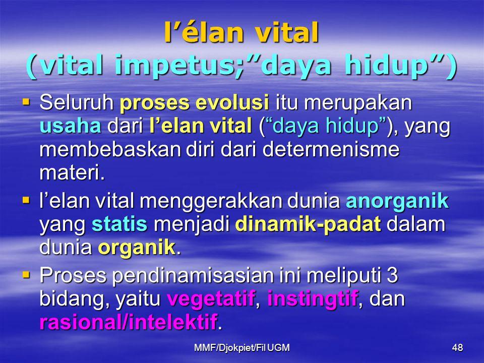 l'élan vital (vital impetus; daya hidup )