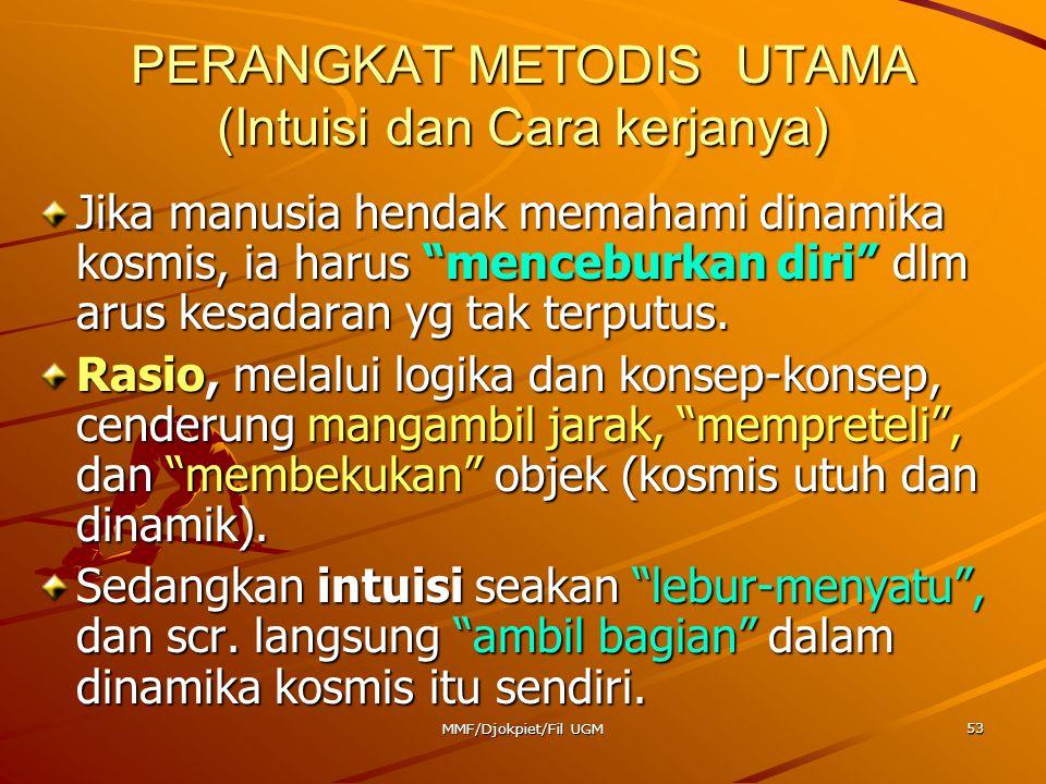 PERANGKAT METODIS UTAMA (Intuisi dan Cara kerjanya)