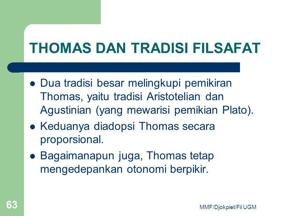 THOMAS DAN TRADISI FILSAFAT