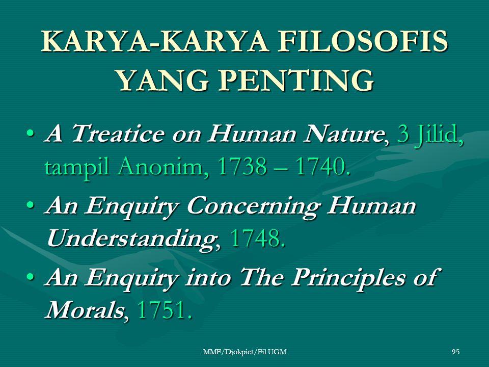 KARYA-KARYA FILOSOFIS YANG PENTING