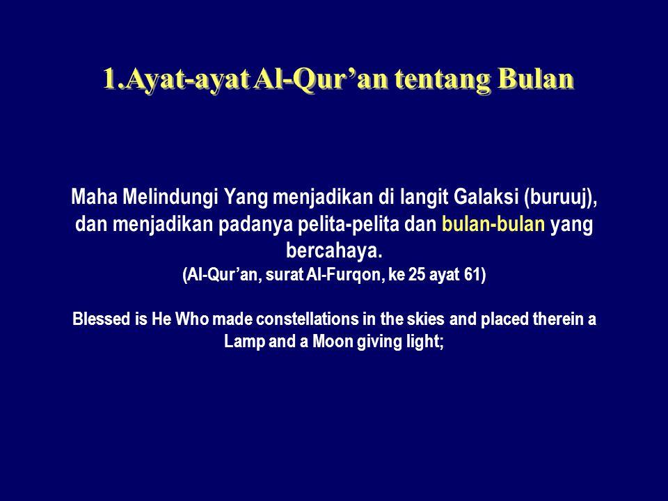 1.Ayat-ayat Al-Qur'an tentang Bulan