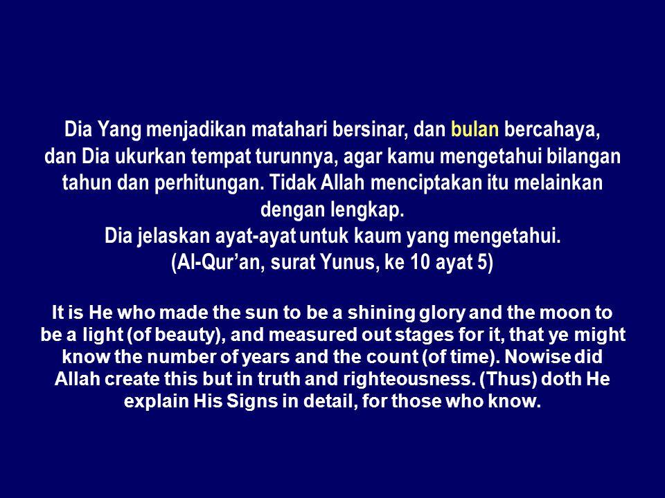 Dia Yang menjadikan matahari bersinar, dan bulan bercahaya,