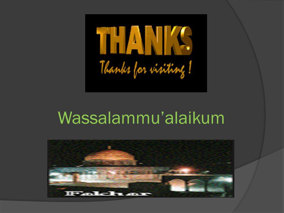Wassalammu'alaikum