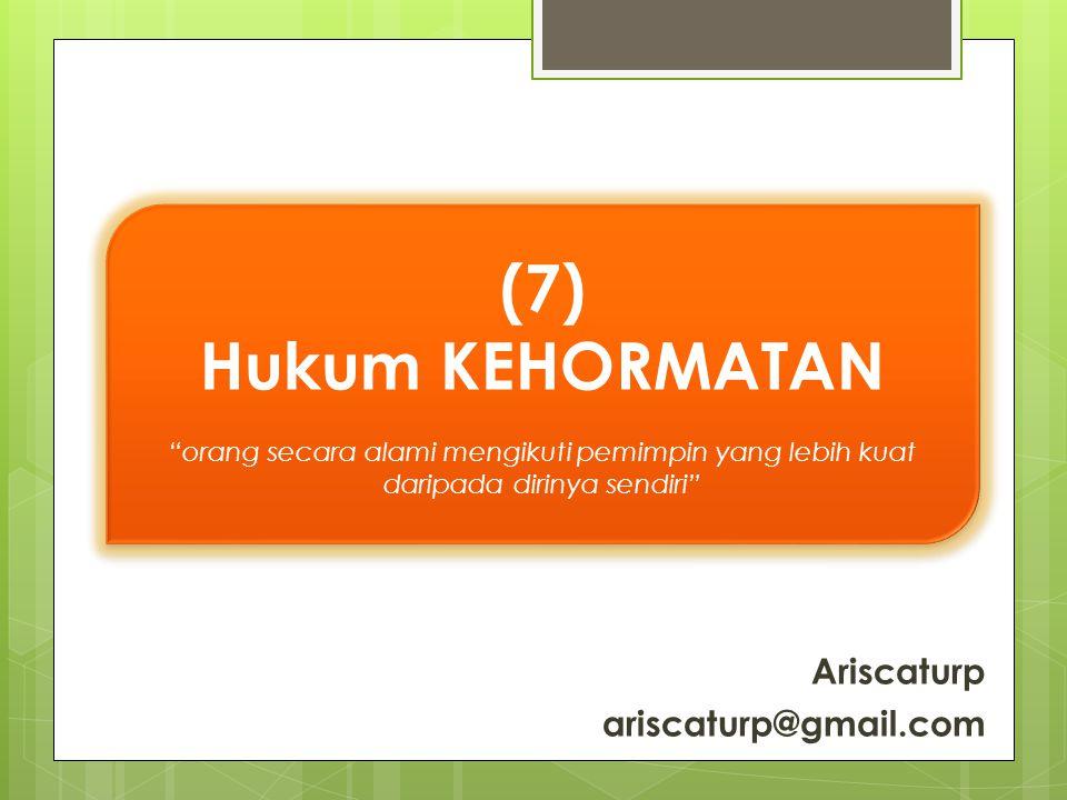 (7) Hukum KEHORMATAN Ariscaturp ariscaturp@gmail.com