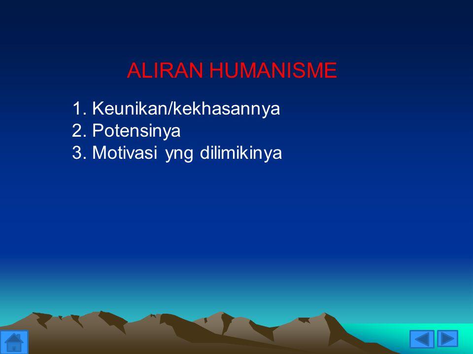 ALIRAN HUMANISME 1. Keunikan/kekhasannya 2. Potensinya