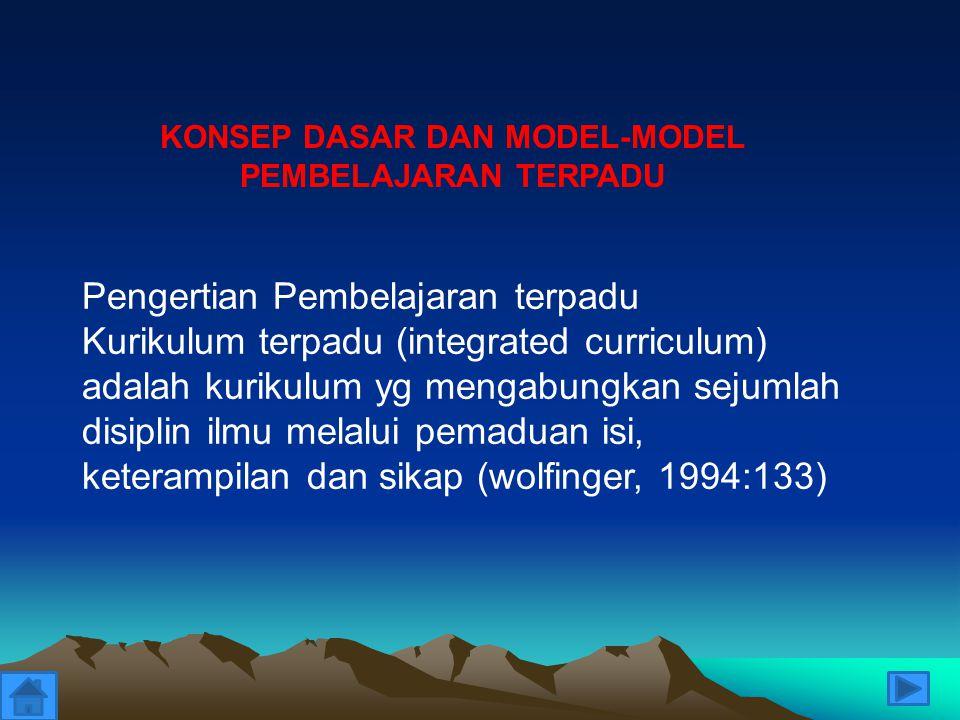 KONSEP DASAR DAN MODEL-MODEL PEMBELAJARAN TERPADU