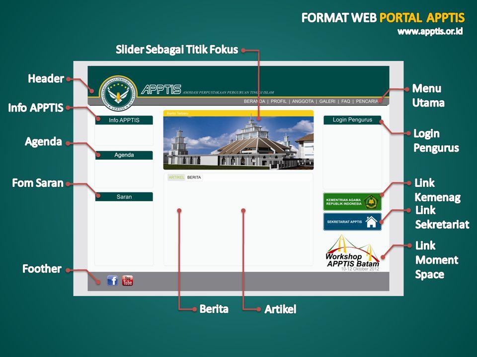 FORMAT WEB PORTAL APPTIS