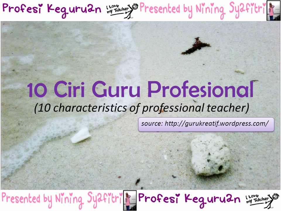 (10 characteristics of professional teacher)