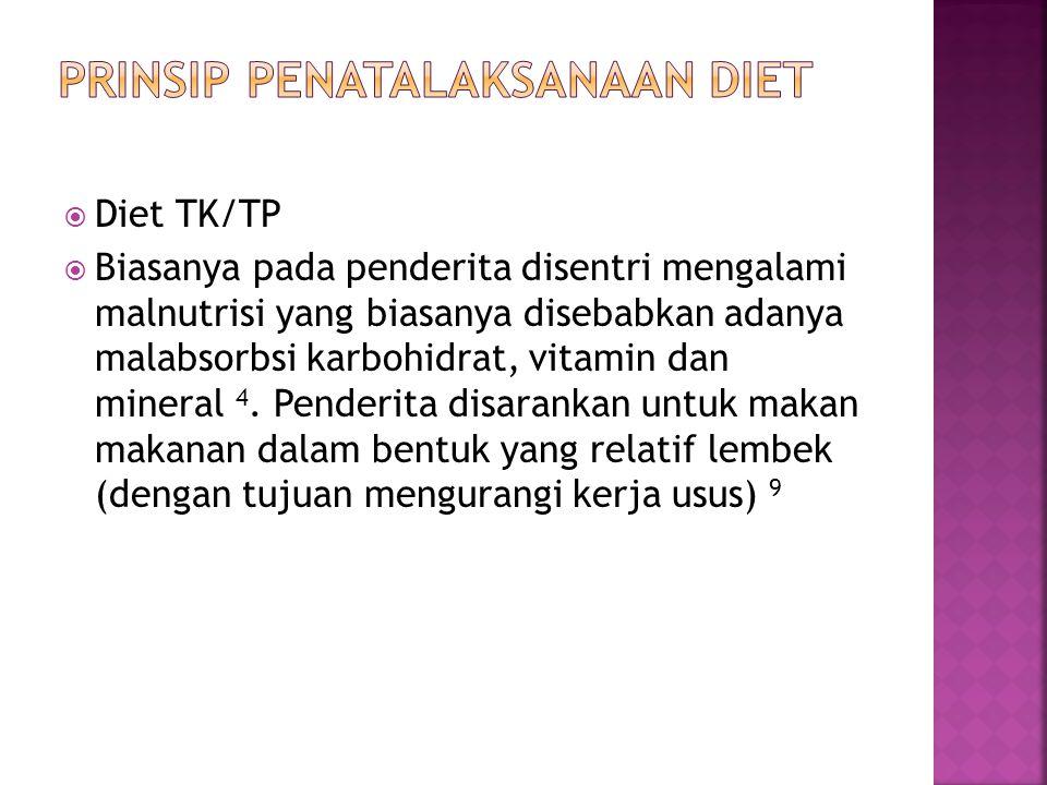 PRINSIP PENATALAKSANAAN DIET