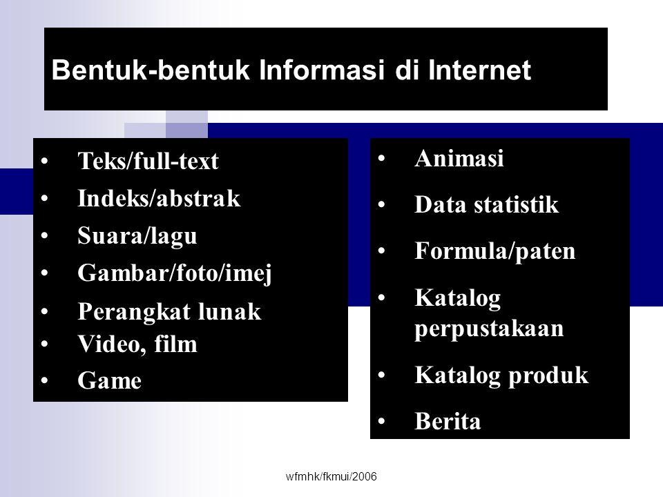 Bentuk-bentuk Informasi di Internet