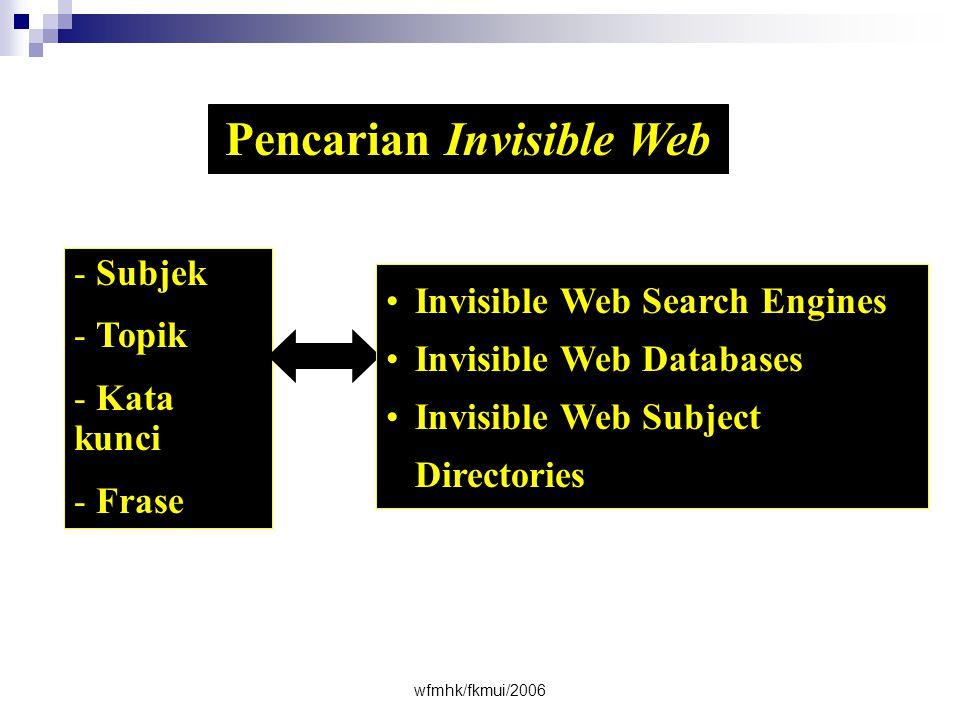 Pencarian Invisible Web