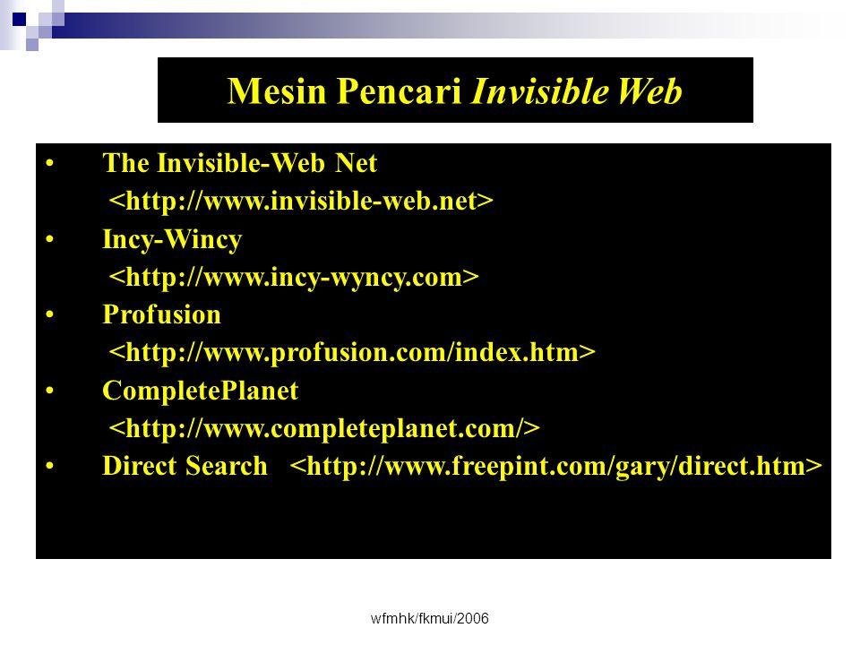 Mesin Pencari Invisible Web