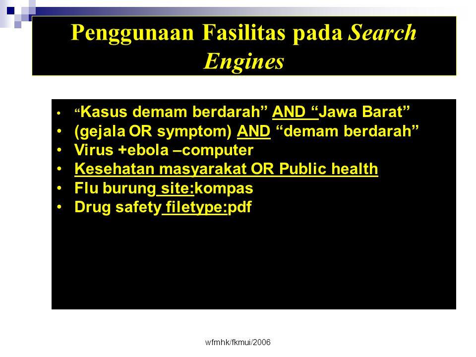 Penggunaan Fasilitas pada Search Engines