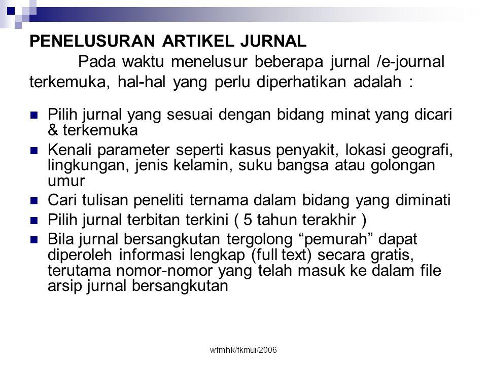 PENELUSURAN ARTIKEL JURNAL