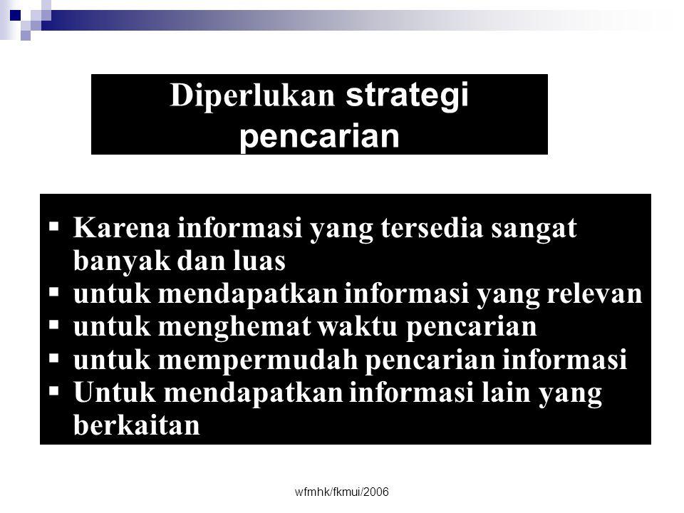 Diperlukan strategi pencarian