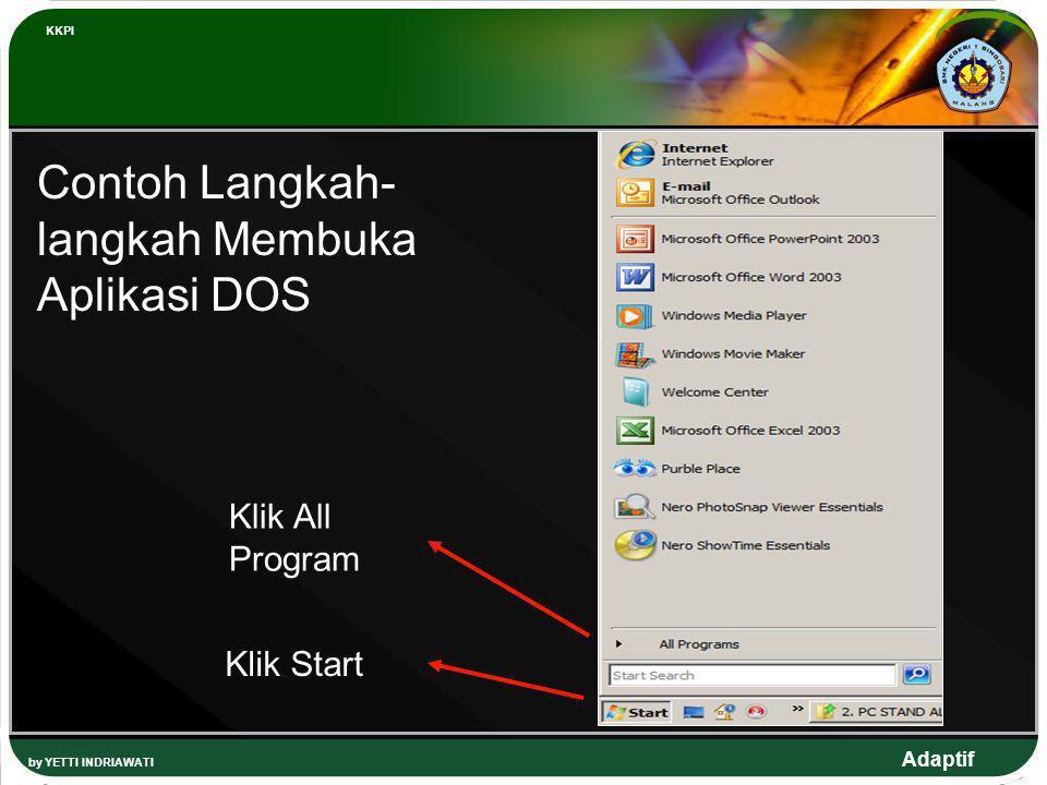Contoh Langkah-langkah Membuka Aplikasi DOS